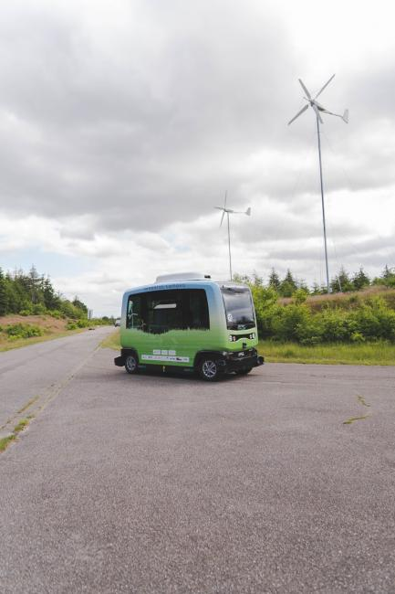 EZ10 on GreenTEC Campus powered with Wind Energy